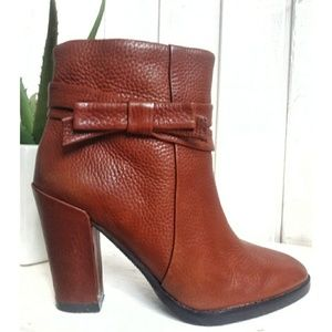 Kate Spade nappa leather mannie booties